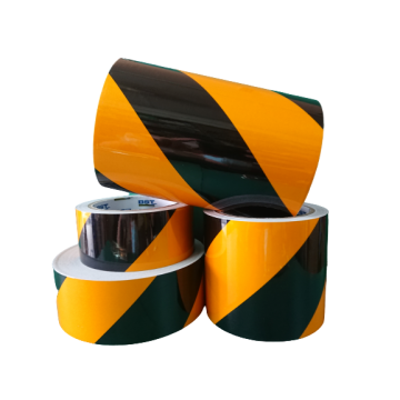 Hazard Warning Reflective Tapes - Yellow/Black (Reflective Tiger Tapes) (ROLL)
